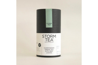 Handcrafted Gunpowder Tea with Peppermint