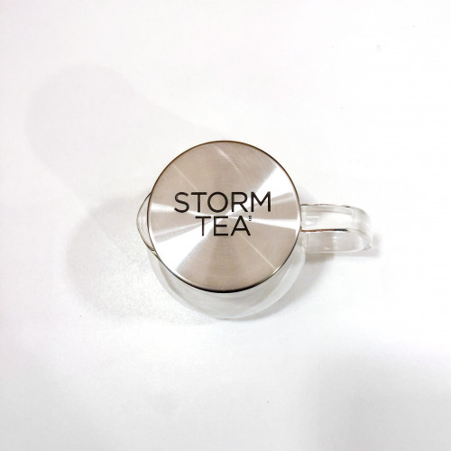 Storm Tea glass teapot with strainer built in lid