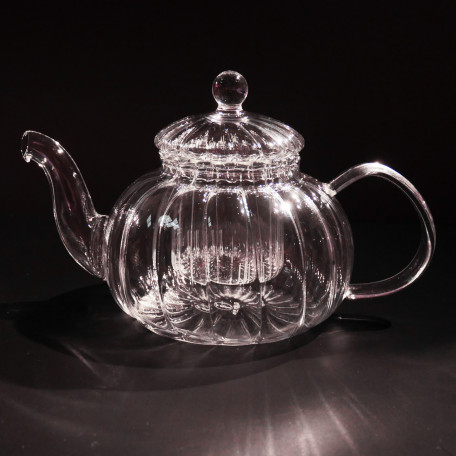 Glass Ripple Teapot
