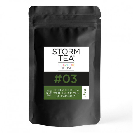 Flavour House, Organic Sencha Green Tea With Elderflower & Raspberry