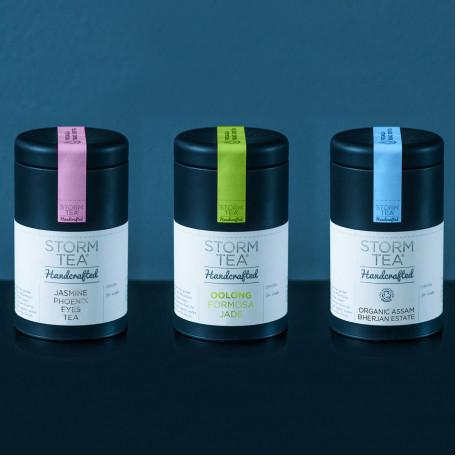 Trio of Handcrafted Tea Caddies - Sommelier range